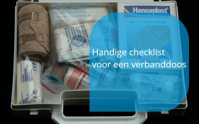 Verbanddoos checklist