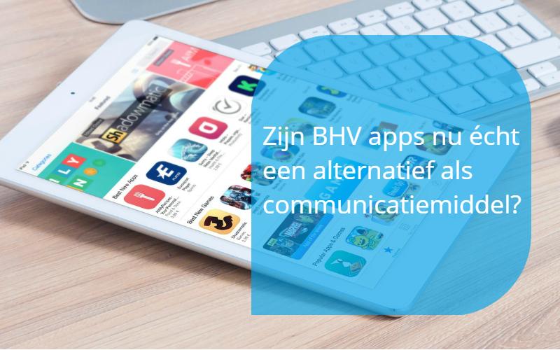 BHV apps als communicatiemiddel