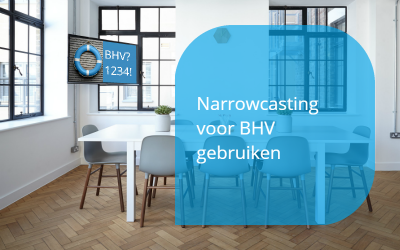 narrowcasting voor BHV gebruiken