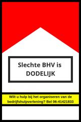slechte BHV is dodelijk waarschuwing
