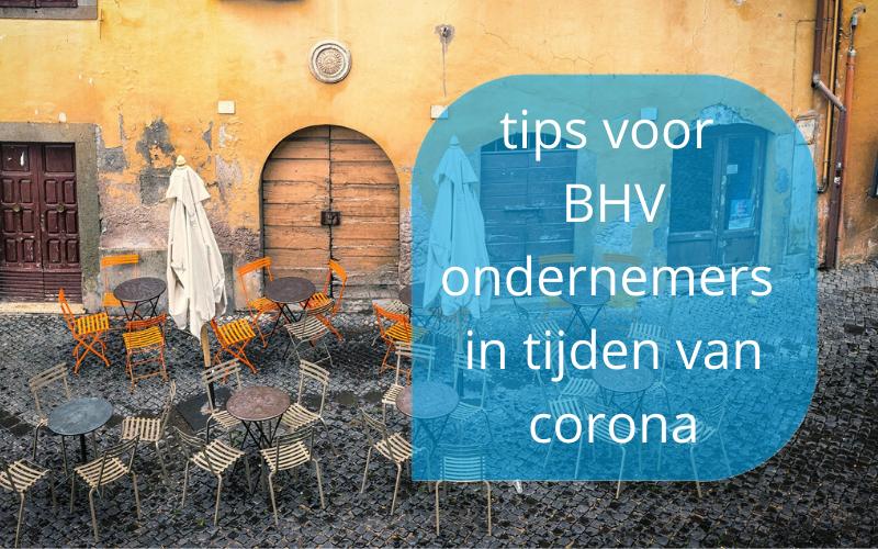 tips voor BHV ondernemers in tijden van corona