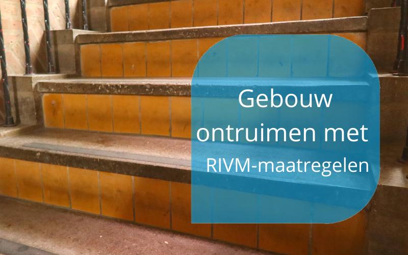 gebouw ontruimen met RIVM-maatregelen