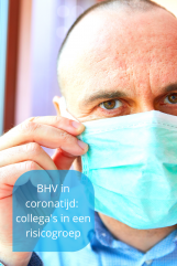 coronaproof BHV collega in risicogroep